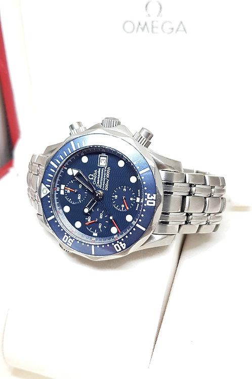 Omega Seamaster Blue Titanium Chronograph REF: 2298.80.00