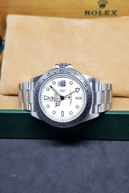 "Rolex Oyster Perpetual White ""POLAR"" Explorer 2 REF: 16570"