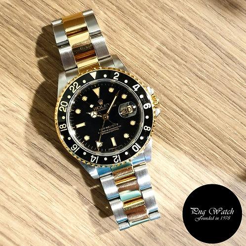 Rolex Oyster Perpetual 18K Half Gold Tritium GMT Master 2 REF: 16713 (2)