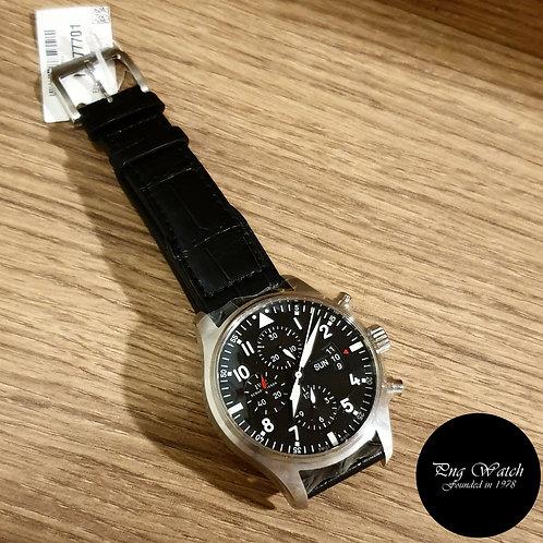 IWC Black Flieger Chronograph Pilot's Timepiece REF: 3777 (NOS)(2)