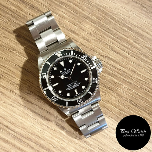 Rolex Oyster Perpetual Black 4 Liner No Date Submariner REF: 14060M (2)