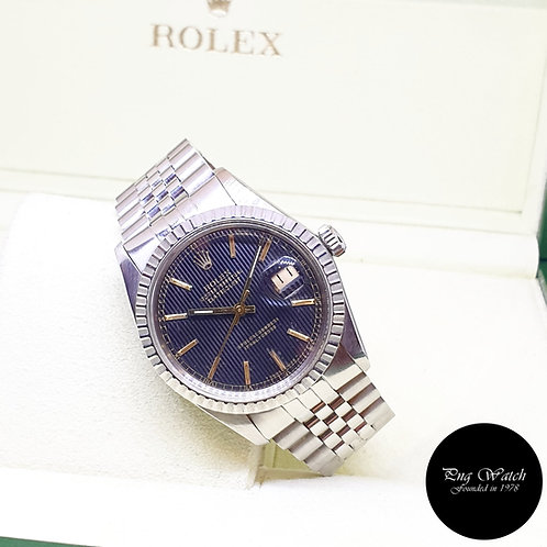 Rolex Oyster Perpetual Black Tapestry 36mm Datejust REF: 16030