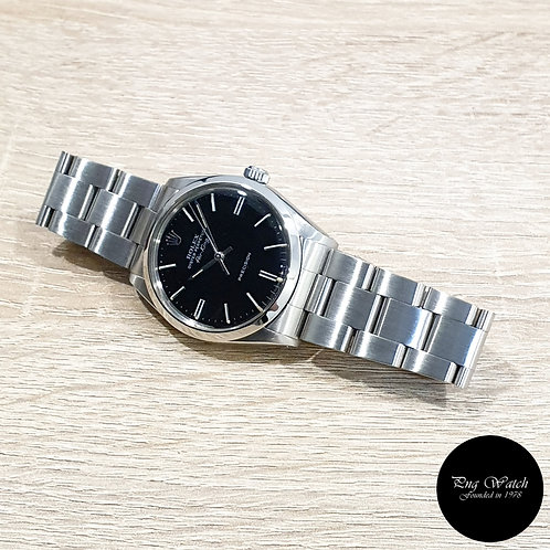 Rolex Oyster Perpetual 34mm Black Air-King REF: 5500 (2)
