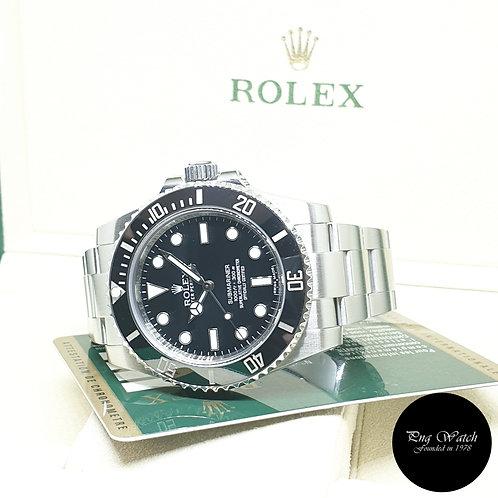Rolex Oyster Perpetual Steel Ceramic No Date Black Submariner REF: 114060 (2013)