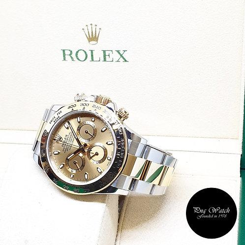 Rolex Perpetual 18K Half Gold Champagne Indexes Daytona REF: 116503 (2018)