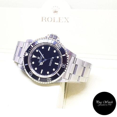 Rolex Oyster Perpetual Steel Tritium No Date Black Submariner REF: 14060