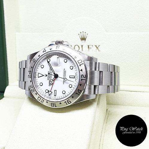 "Rolex Oyster Perpetual White ""POLAR"" Explorer 2 REF: 16570 (K)(2)"