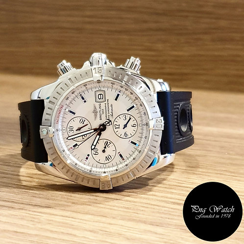 Breitling 44mm Silver Chronomat Evolution Chronograph REF: A13356 (2)