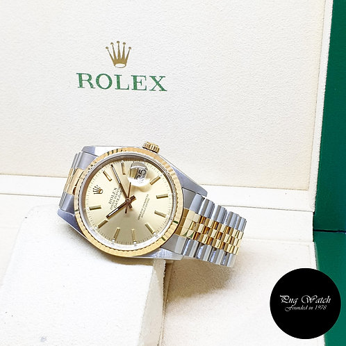 Rolex Oyster Perpetual Champagne Indexes Datejust REF: 16233 (R Series)