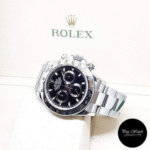 Rolex Oyster Perpetual Black Steel Daytona REF: 116520 (G Series)