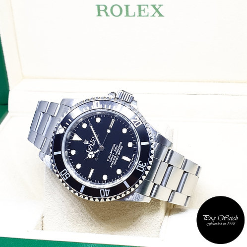 Rolex Oyster Perpetual 4 Liner No Date Submariner REF: 14060M