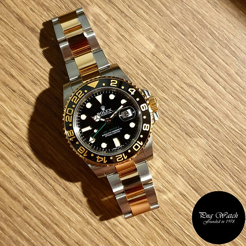 Rolex 18K Half Gold Ceramic Black GMT Master 2 REF: 116713LN (2)
