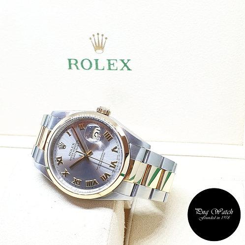 Rolex Oyster Perpetual 18K Half Gold Rhodium Roman Datejust REF: 16203 (U)