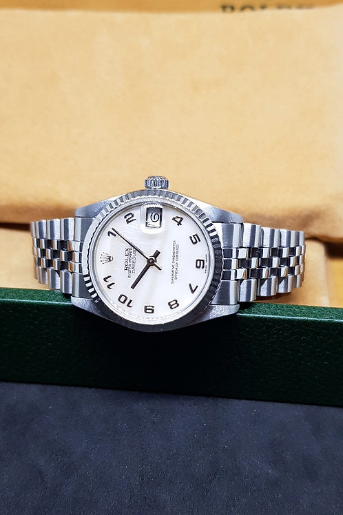 Rolex Oyster Perpetual White MOP Datejust REF: 68274