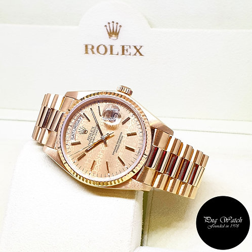 Rolex Oyster Perpetual 18K Yellow Gold Computer Day-Date REF: 18038