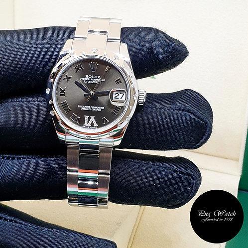 Rolex 31mm Oyster Perpetual Bronze Diamonds VI Datejust REF: 178344 (2)