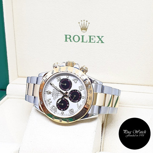 "Rolex Oyster Perpetual 18K Half Gold ""PANDA"" Daytona REF: 116523 (2009)"
