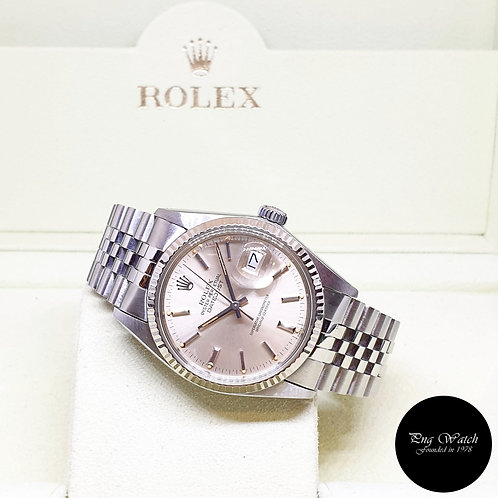 Rolex Oyster Perpetual Tritium Silver Indexes 36mm Datejust REF: 16014