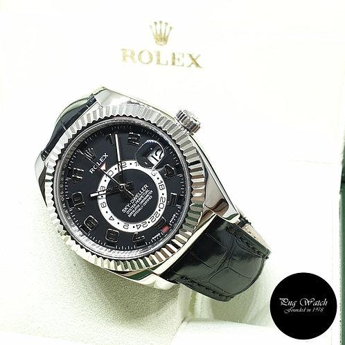 Rolex Oyster Perpetual 18K Full White Gold Black Sky Dweller REF: 326139 (2016)