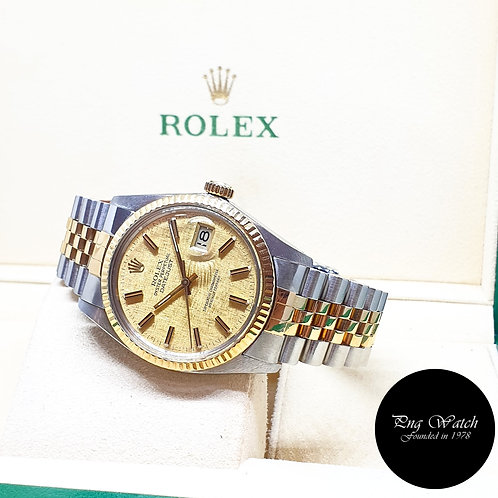 Rolex Oyster Perpetual Champagne Textured Datejust REF: 16013 (Full Set)