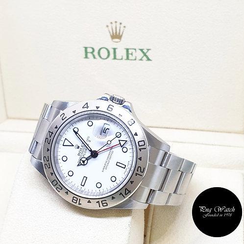 "Rolex Oyster Perpetual 40mm ""POLAR"" Explorer 2 REF: 16570 (D Series)"