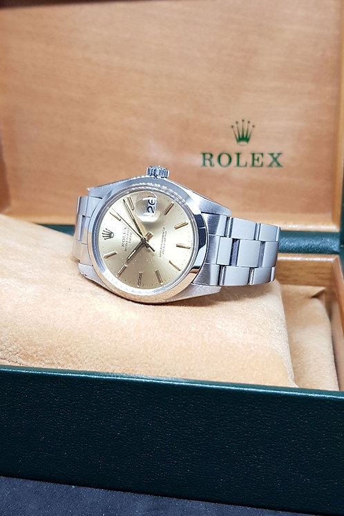 Rolex Oyster Perpetual Champagne Gold Date REF: 1500