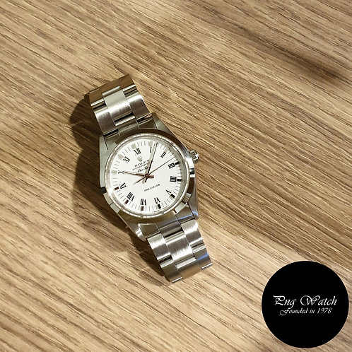 Rolex Oyster Perpetual 34mm White Roman Air-King REF: 14000 (2)