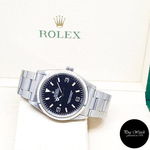 "Rolex Oyster Perpetual Steel 36mm ""SWISS"" Black Explorer One REF: 14270 (1998)"