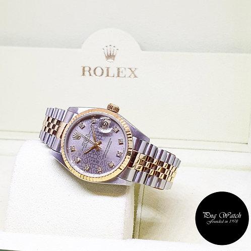 Rolex OP 31mm 18K Half Gold Grey Computer Diamonds Datejust REF: 68273