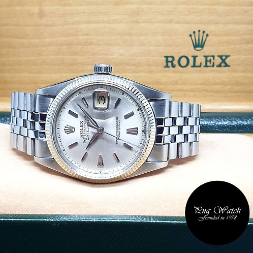Rolex Oyster Perpetual 36mm Silver Datejust REF: 6605