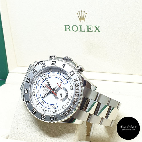 Rolex Oyster Perpetual 18K White Gold Yachtmaster II REF: 116689 (2008)