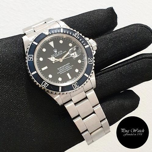 Rolex Oyster Perpetual 40mm Tritium Date Black Submariner REF: 16610 (1991)(2)
