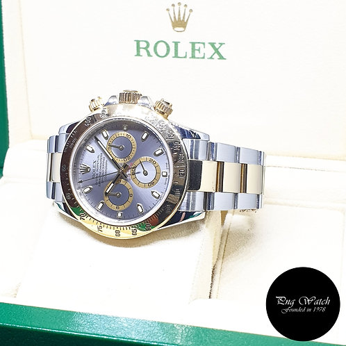 Rolex Oyster Perpetual 18K Half Gold Grey Daytona REF: 116523