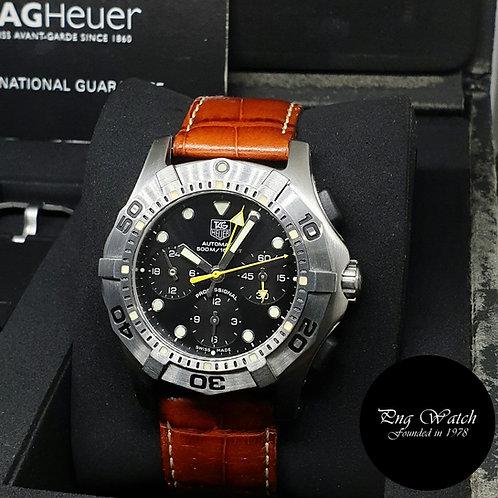 Tag Heuer Black Aquagraph Chronograph Watch REF: CN211A.BA