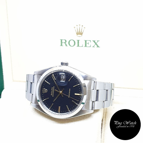 Rolex 34mm Steel Black Precision Oysterdate REF: 6694 (1981)