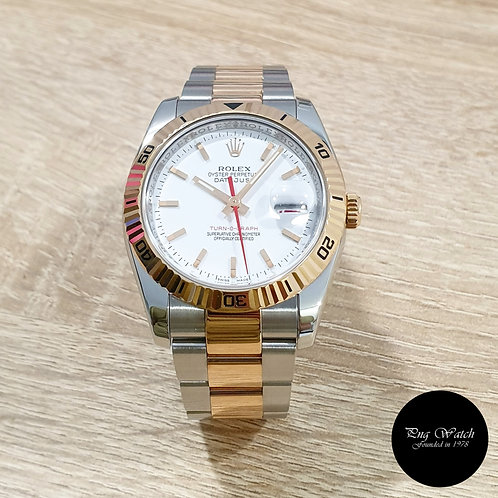 """Rolex OP 18K Half Rose Gold White Indexes """"Turn-O-Graph"""" Datejust (2)"""
