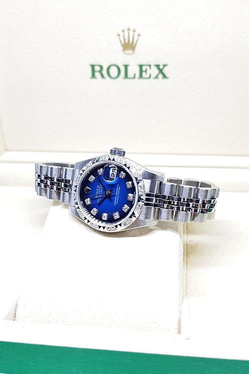 Rolex Blue Ombre 10PT Diamonds Ladies Datejust REF: 79174