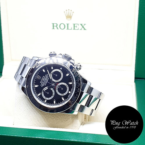 Rolex Oyster Perpetual Black Steel Cosmograph Daytona REF: 116520