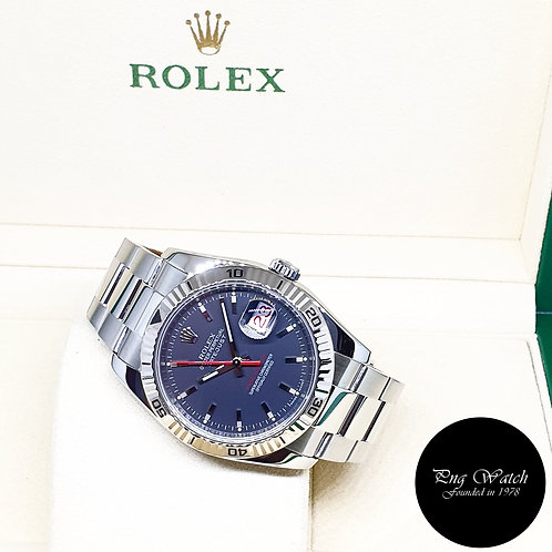 """Rolex Oyster Perpetual Black """"Turn-O-Graph"""" Datejust REF: 116264"""