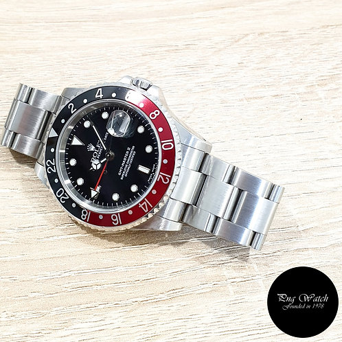 """Rolex Oyster Perpetual Date """"COKE"""" GMT Master 2 REF: 16710 (P)(2)"""