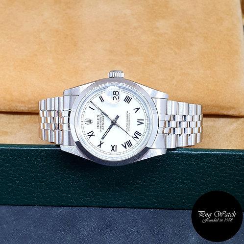 Rolex 31mm White Roman Datejust REF: 68240