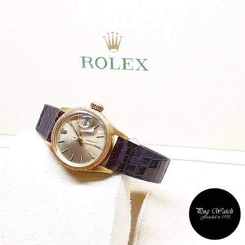 Rolex Oyster Perpetual 18K Yellow Gold 26mm Indexes Datejust REF: 6701