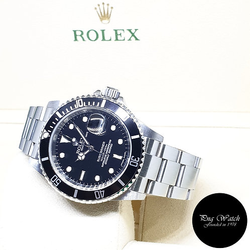 Rolex Oyster Perpetual Date Black Submariner REF: 16610 (M Series)