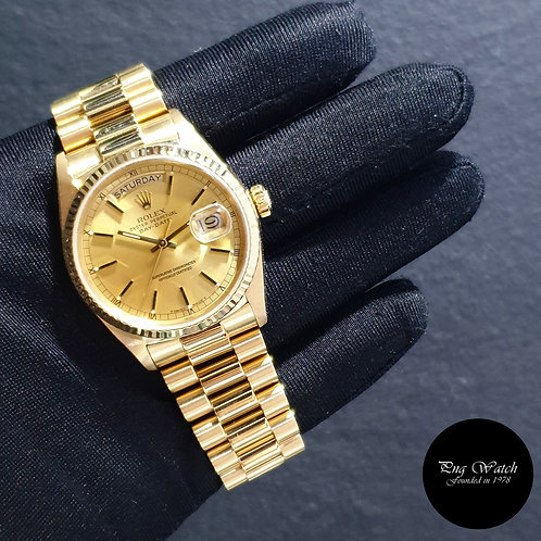 Rolex 18K Yellow Gold Champagne Indexes Day-Date REF: 18038