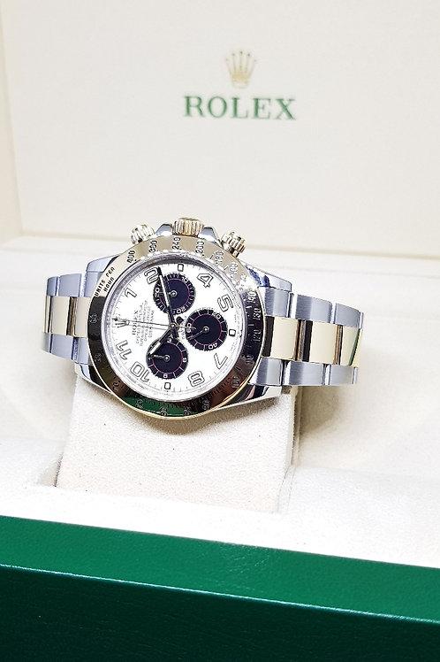 "Rolex 18K Half Gold ""PANDA"" Daytona REF: 116523"