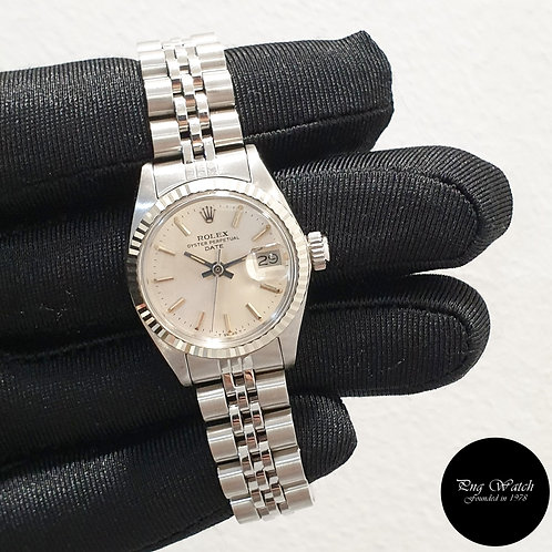 Rolex Oyster Perpetual 26mm Silver Indexes Ladies Datejust REF: 6917 (2)