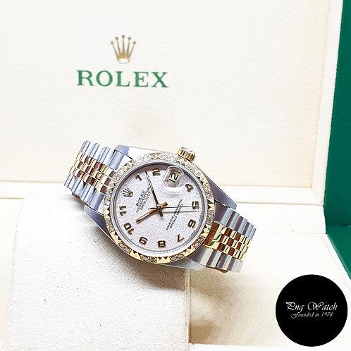 Rolex 18K Half Gold 31mm Beige Computer Arabic Datejust REF: 68273