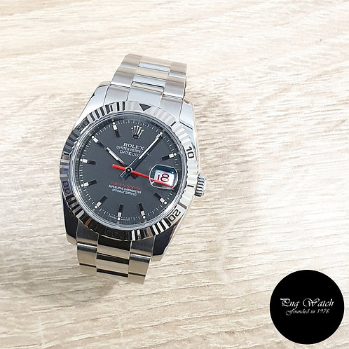 "Rolex Oyster Perpetual Matte Black ""Turn-O-Graph"" Datejust REF: 116264 (2)"