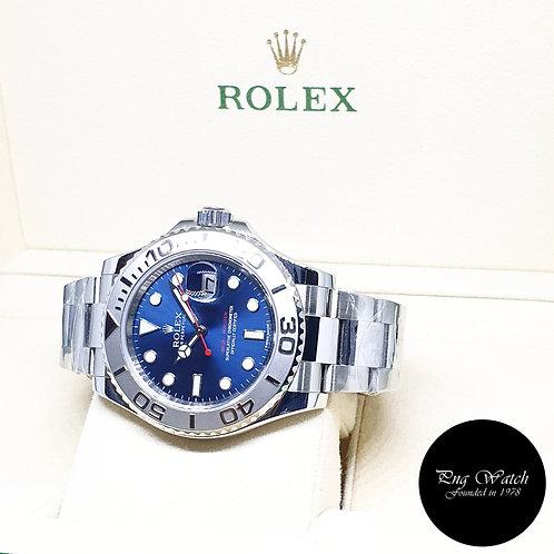 Rolex Oyster Perpetual Blue Yachtmaster Platinium Bezel REF: 116622 (2017)