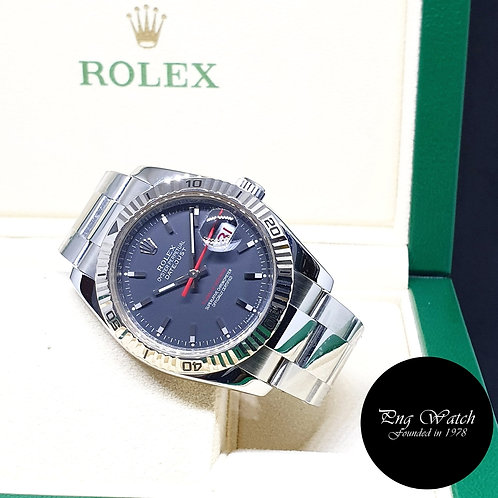 Rolex Oyster Perpetual Black Datejust Turn-O-Graph REF: 116264